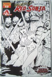 Red Sonja Doom of the Gods #1 Retail Sketch Variant